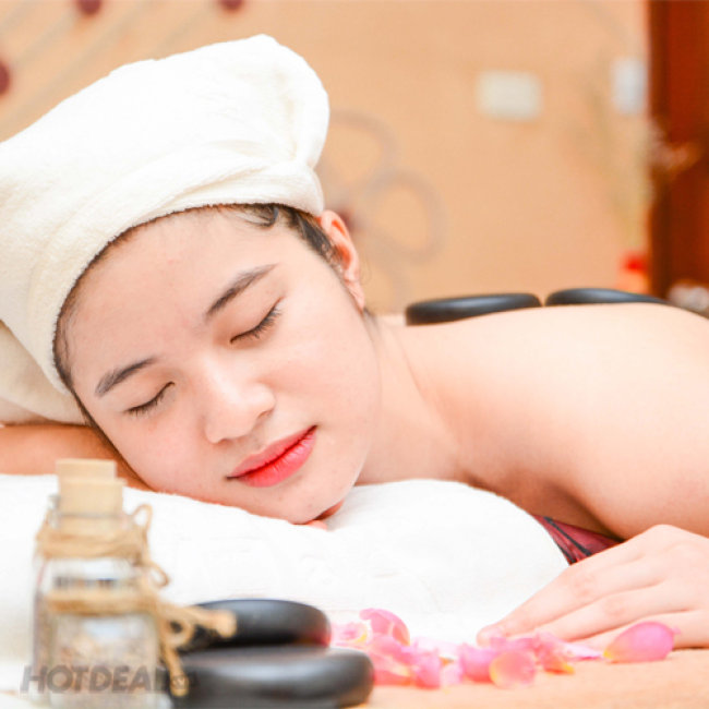 Massage Body Đá Nóng Kết Hợp Xoa Bóp Bấm Huyệt Toàn Thân - Gai A...