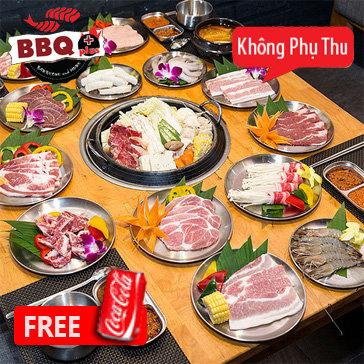 Buffet Nướng Lẩu Hàn Quốc Tại BBQ Plus Times City Miễn Phí Coca