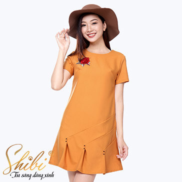 Đầm Dự Tiệc Đính Hoa 3D Shibi SB093