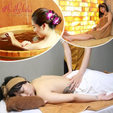 Trọn Gói Massage 5 Sao Xông, Sục, Tắm Lá Dao Đỏ Tại HATHI JULIA