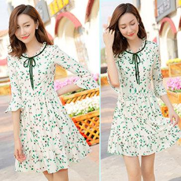 Đầm Hoa Tay Loe Mina