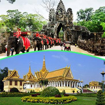 Tour Campuchia 4N3Đ – Bao Vé Hoàng Cung – Tham quan Chùa Vàng – Chùa Bạc – Angkor - Phnompenh KS 3* - 4* Gồm Buffet Lẩu Băng Chuyền Và Buffet Tối