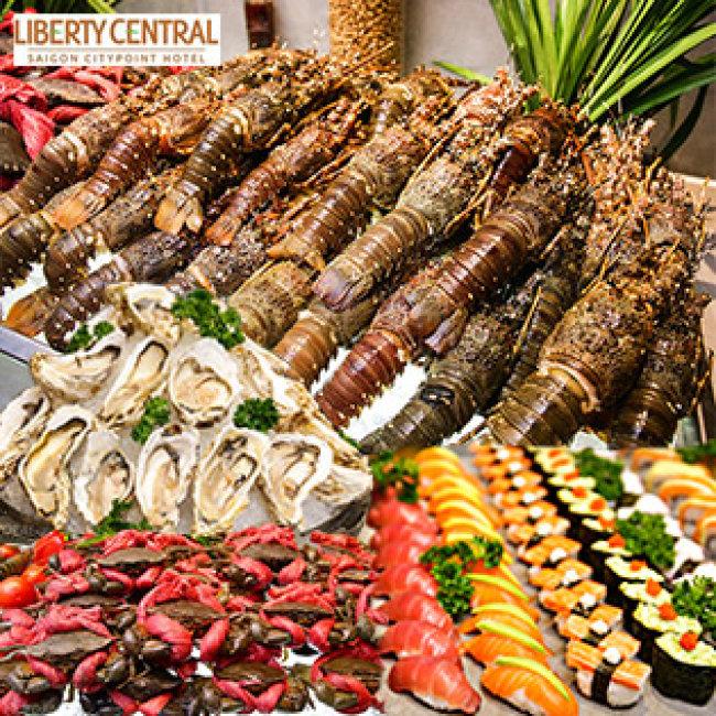 Buffet Tối Hải Sản Cao Cấp Thứ 6 Đến Chủ Nhật _ Liberty...