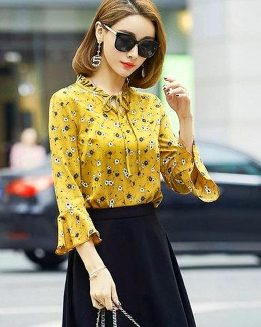 Áo Tay Loe Hoa Nhí Hot Trend