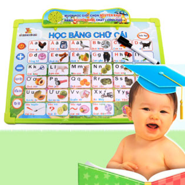 Bảng Điện Tử Thông Minh Anh Việt 7 Trong 1 Cho Bé Nguyên Khải