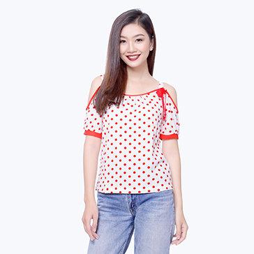 Áo Kiểu 2 Dây Tay Rớt-A016-TH Quỳnh Vy