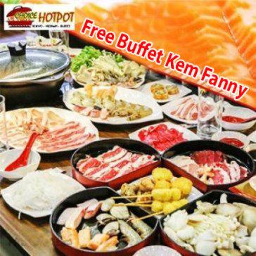 Buffet Tối Lẩu Nhật, Hải Sản & Bò Mỹ, Free Buffet Kem Fanny, Tráng Miệng, Món Ăn Kèm - Choice Hotpot