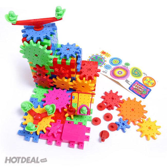 Bộ Đồ chơi Lắp Ráp Funny Bricks - Lắp Ghép Bánh Răng 81 Miếng