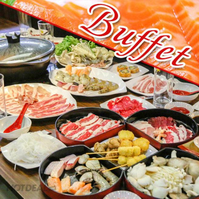 Buffet Tối Lẩu Nhật, Hải Sản & Bò Mỹ, Free Buffet Kem Fanny, Tráng...