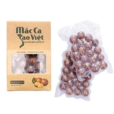 Hạt Mắc Ca Sao Việt Nhập Khẩu Từ Australia - Rang Nứt Vỏ 250Gr