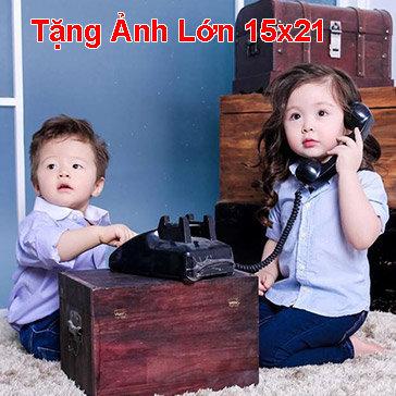 Trọn Gói Chụp Ảnh Bé Yêu Trang Phục Truyền Thống Việt Nam, Hàn Quốc… & Gia Đình Tặng 1 Ảnh (15x21) - Studio Trung Hoa