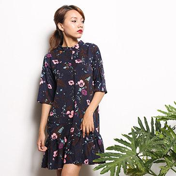 Đầm Lụa Hoa Vintage Tatu Clothing