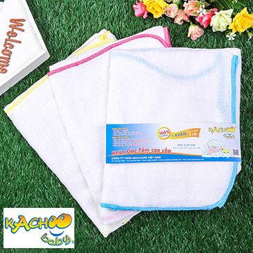 Combo 5 Khăn Gạc Tắm Kachoo Baby 3 Lớp 100% Cotton Size 70 X 80Cm