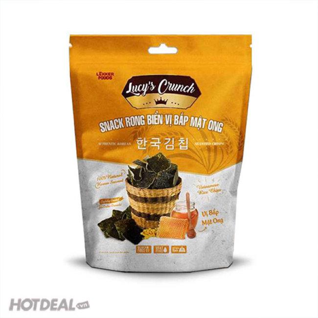 Combo 10 Gói Snack Rong Biển Vị Bắp Mật Ong Hàn Quốc Lucy'c Crunch