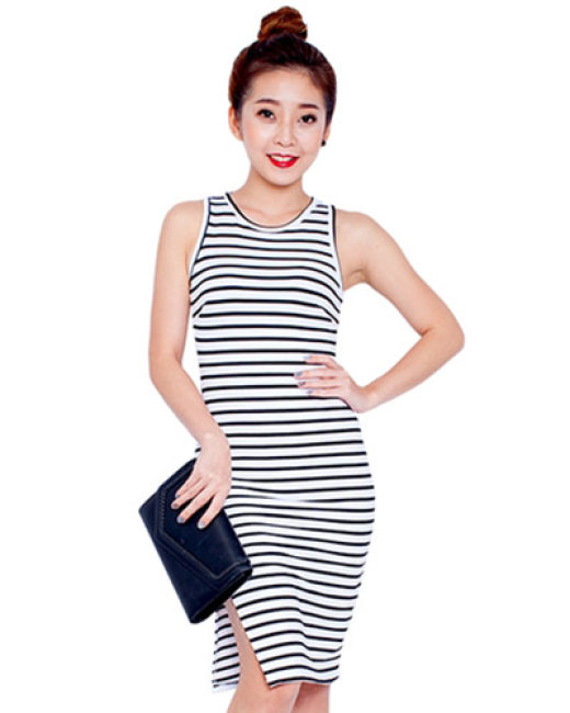 Đầm Body Kẻ Sọc Thời Trang