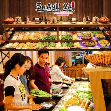 Buffet Tối Shabuya Aeon Mall Bình Tân Lẩu Nhật, Bò Mỹ, Sushi, Free Nước Uống và Kem Tươi Cực Ngon