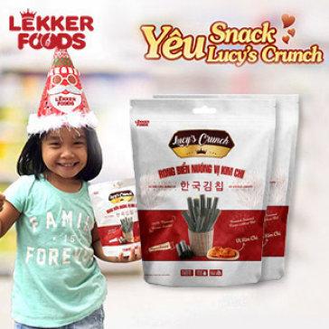 Combo 10 Gói Snack Rong Biển Vị Kim Chi Hàn Quốc Lucy'S Crunch