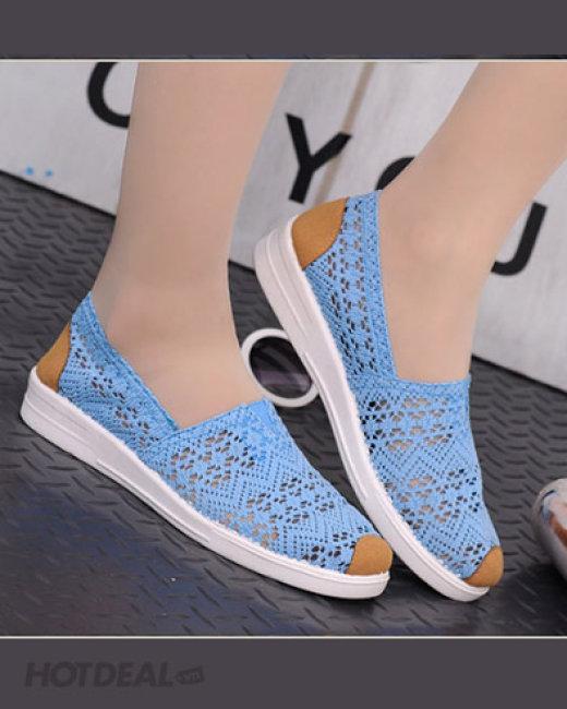 Giày Slip On Ren Dịu Dàng