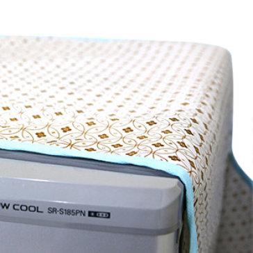 Khăn Vải Phủ Tủ Lạnh Hoa Văn Loại Lớn Kèm 8 Túi (Giặt Được) T.H VietHome