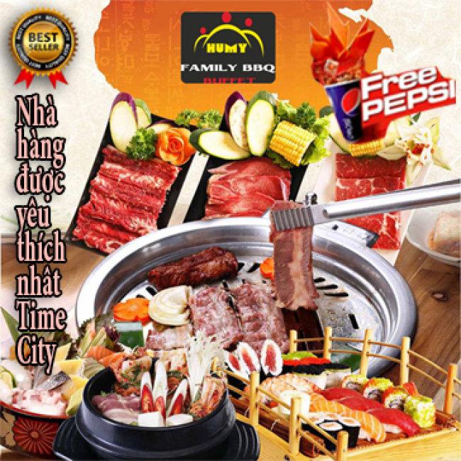 Buffet Nướng Lẩu Menu Cao Cấp Tặng Pepsi  - Family BBQ Buffet Vincom...