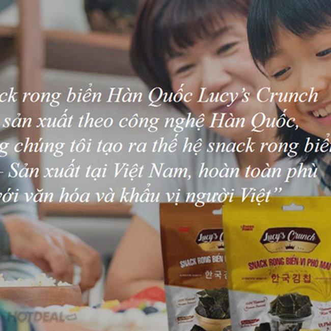 Combo 10 Gói Snack Rong Biển Phô Mai Hàn Quốc Lucy's Crunch