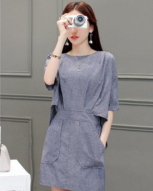Đầm Sọc Street Style Korea