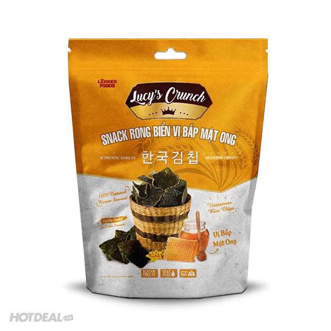 Combo 10 Gói Snack Rong Biển Hàn Quốc (5 Vị) Lucy's Crunch