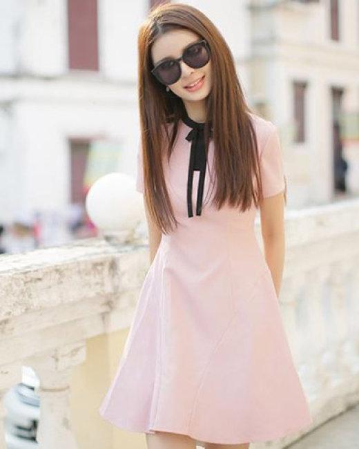 Đầm Xòe Nơ Cổ Misa
