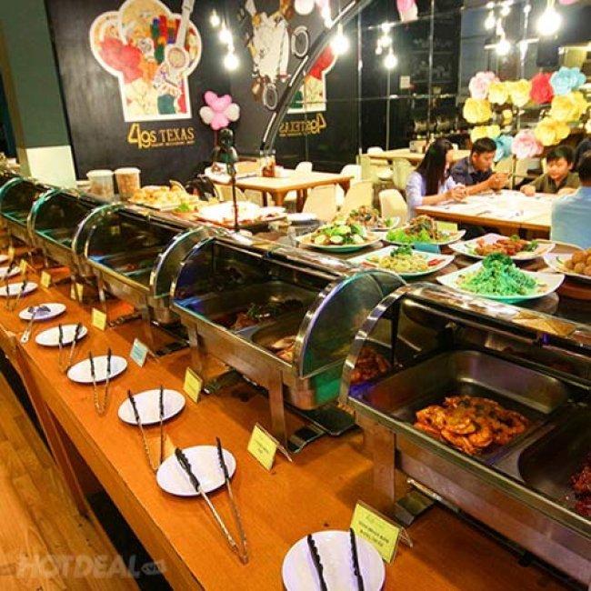 Buffet Tối Hơn 40 Món Tại 4G's Texas Restaurant - Không Phụ Thu...