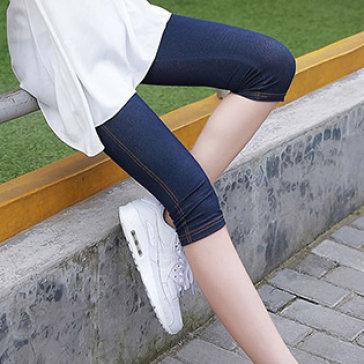 Quần Legging Jean Lửng Dạo Phố