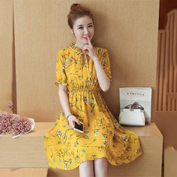 Đầm Hoa Bo Eo Girly
