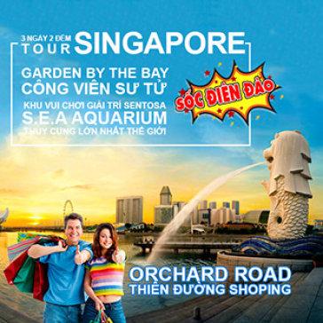 Tour Singapore 3N2Đ – Khám Phá Đảo Sentosa – Thủy Cung S.E.A Aquarium – Garden By The Bay