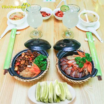 02 Suất Cơm Niêu + 02 Đồ Uống + Đồ Ăn Kèm Tại Viet Gardens