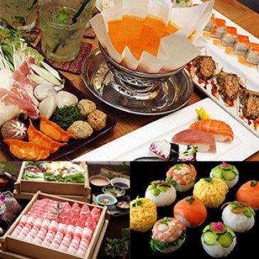 Buffet Trưa & Tối Sushi & Lẩu Giấy Nhật Bản + Nước Ngọt Không...