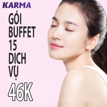 Gói Buffet 15 Dịch Vụ Giá 46K - Karma Spa
