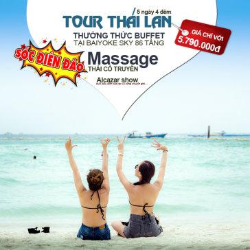 Tour Thái Lan 5N4Đ –  Khám Phá Bangkok – Pattaya – Alcazar Show – Buffet 86 Tầng