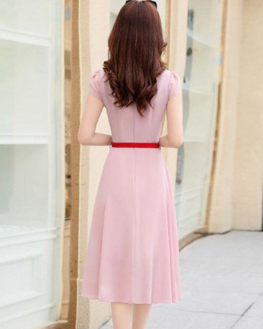Đầm Chiffon Vạt Bầu