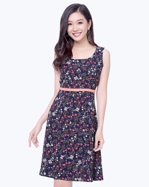 Đầm Xòe Hoa Nhí - Thương Hiệu Hiệp Vĩnh Phát