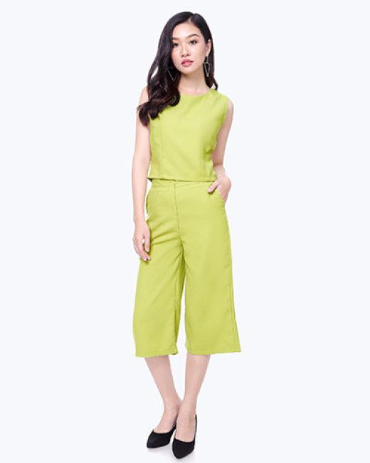 Set Quần Culottes + Áo Croptop Fashion