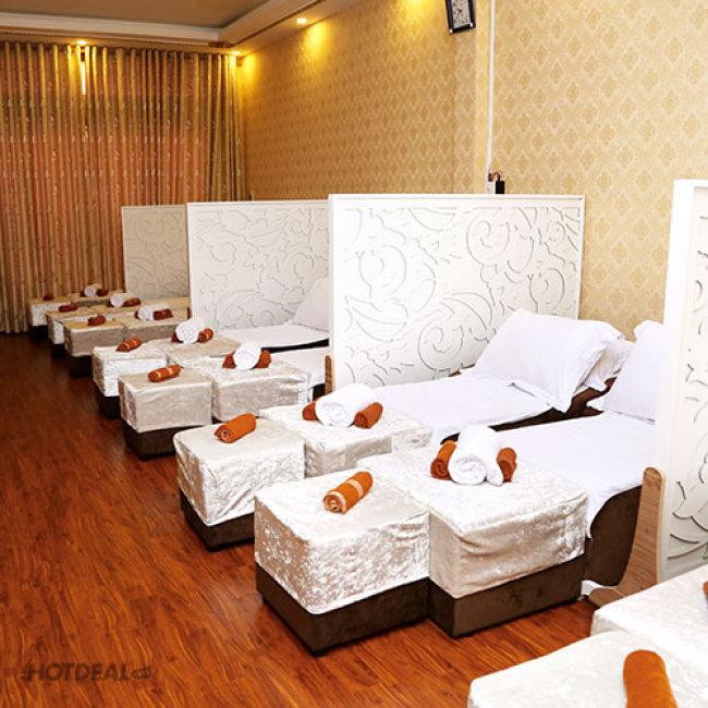 (90') Massage Foot + Body + Steambath + Ngâm Chân + Đắp Mặt Nạ +...