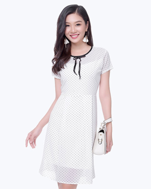 Đầm Xòe Bi Tiểu Thư