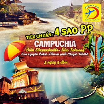 Tour Campuchia 3N3Đ - Khám Phá Cao Nguyên Bokor – Đảo Kohrong Samloem – Sihanouk Ville - Phnom Penh – Naga World