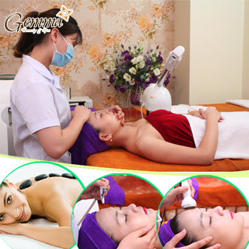 Massage Đá Nóng/ Chăm Sóc Trị Liệu Da Mụn/ Trẻ Hóa Da Công Nghệ...