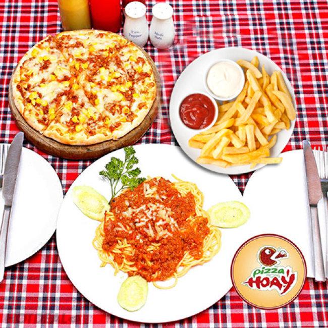 Set Pizza Mỳ Ý Kèm Khoai Tây Chiên Cho 2 Người Tại Hệ Thống Pizza...