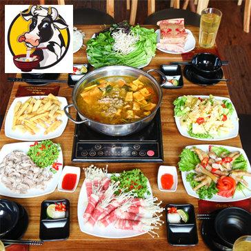 Lẩu Riêu Cua Sườn Sụn & Bò Mỹ Cho 4 Người Tại Nhà Hàng Bò 36 Nguyễn Hoàng