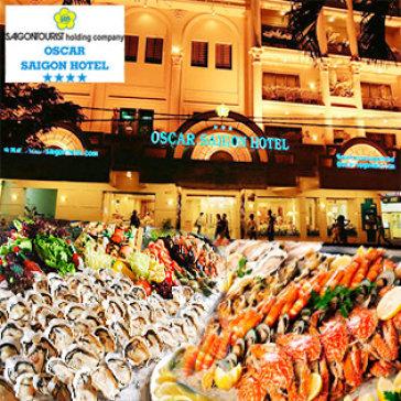 Buffet Tối T6, 7 & CN Hải Sản, Nướng & Lẩu - Oscar Hotel 4* - Phố...