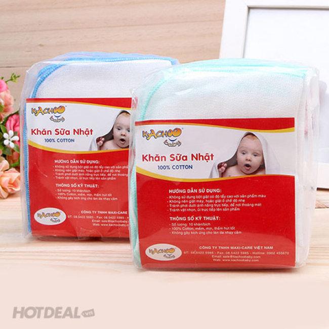 Combo 30 Khăn Sữa 3 Lớp Cho Bé Kachoo Baby