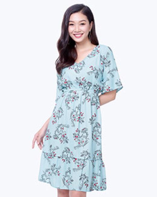 Đầm Hoa Nhí Tay Loe Ngọt Ngào