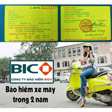 Bảo Hiểm BIDV 2 Năm Cho Xe Máy