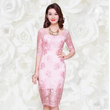 Đầm Ren Thêu Hoa Diva